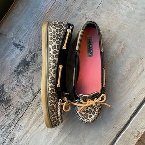 Sperry Top Sider cheetah shoes | size 8.5